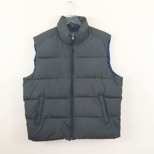 Gap Men`s Olive Green Quilted Puffer Vest Size XL